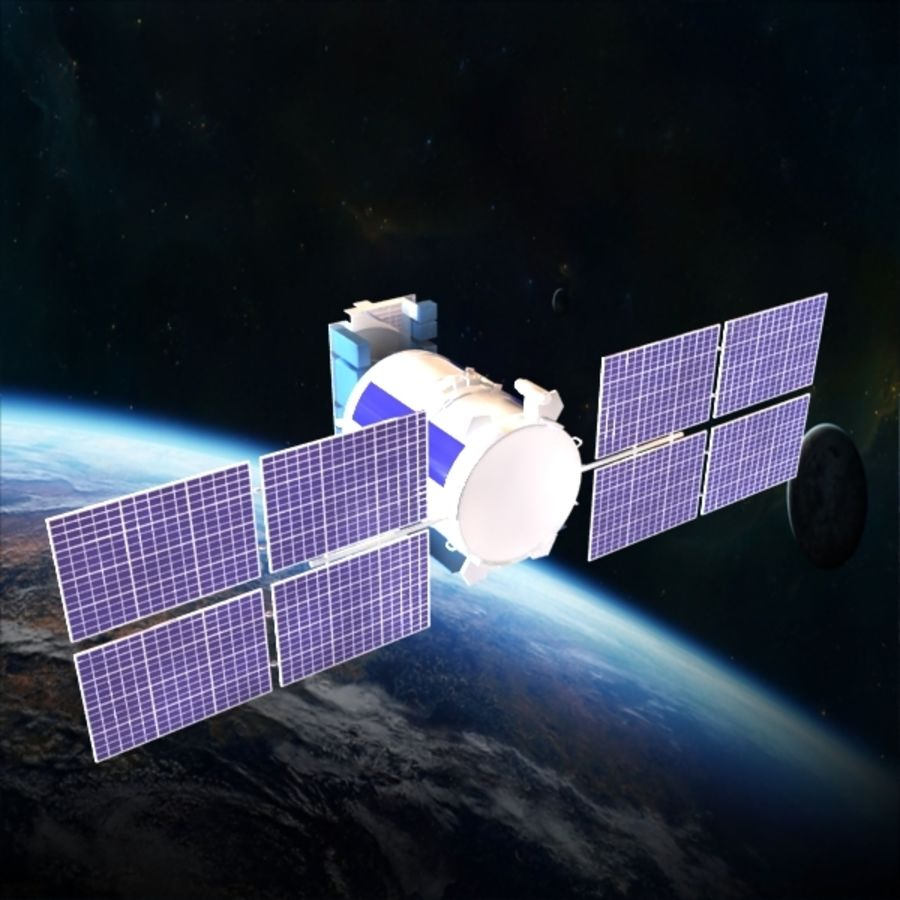 Satellite Glonass royalty-free 3d model - Preview no. 3