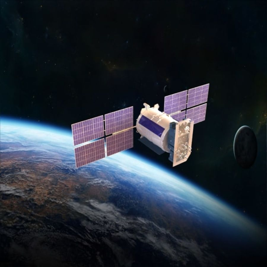 Satellite Glonass royalty-free 3d model - Preview no. 8