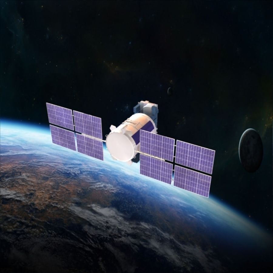 Satellite Glonass royalty-free 3d model - Preview no. 7