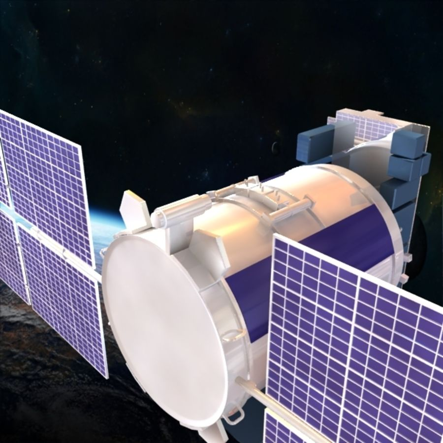 Satellite Glonass royalty-free 3d model - Preview no. 5