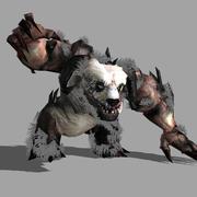 Panda Demônio 3d model