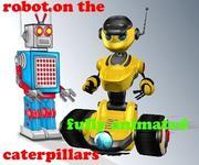 robot on the caterpillars 3d model