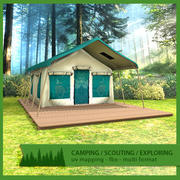 Namiot na wakacje 3d model