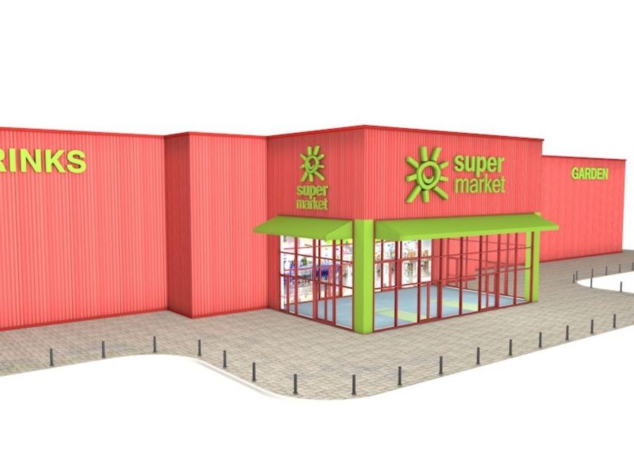 Supermercado royalty-free modelo 3d - Preview no. 3