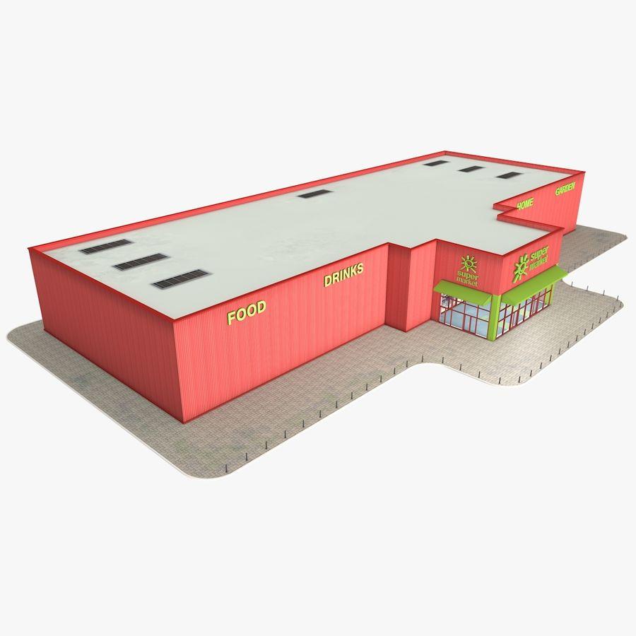 Supermercado royalty-free modelo 3d - Preview no. 1