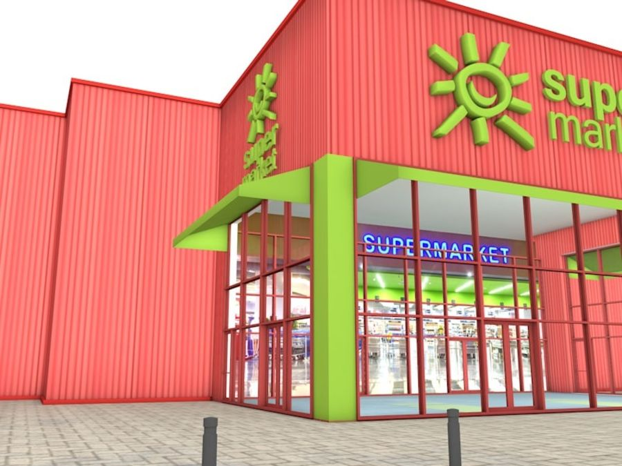 Supermercado royalty-free modelo 3d - Preview no. 4