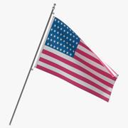 アメリカの国旗3Dモデル 3d model