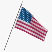 Modelo 3D de la bandera americana modelo 3d