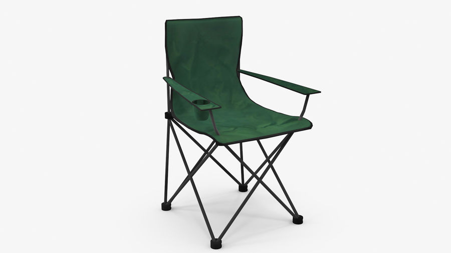 Camping Chair royalty-free 3d model - Preview no. 2