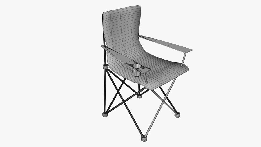 Camping Chair royalty-free 3d model - Preview no. 7