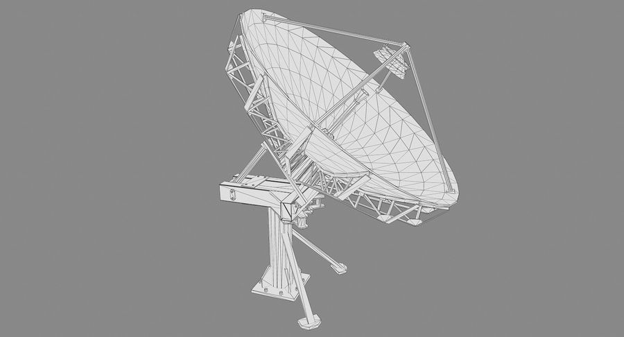 Satellite Dish royalty-free 3d model - Preview no. 12