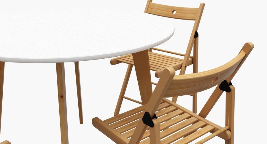 Mesa redonda de cocina Sillas IKEA TERJE Modelo 3D $19 ...