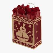 Weihnachtsbeutel mit rotem Papier 3d model