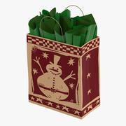 Рождественская сумка с зеленой бумагой 3d model
