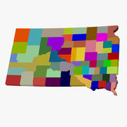 County Map - South Dakota 3d model