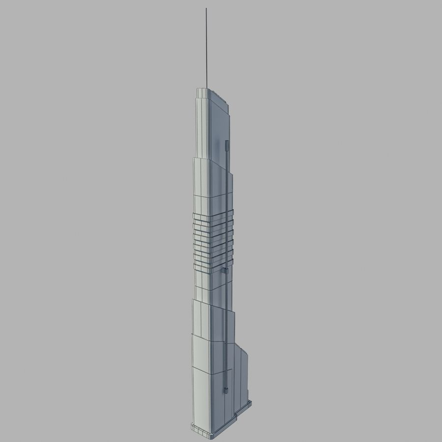 Sci fi Building royalty-free 3d model - Preview no. 7