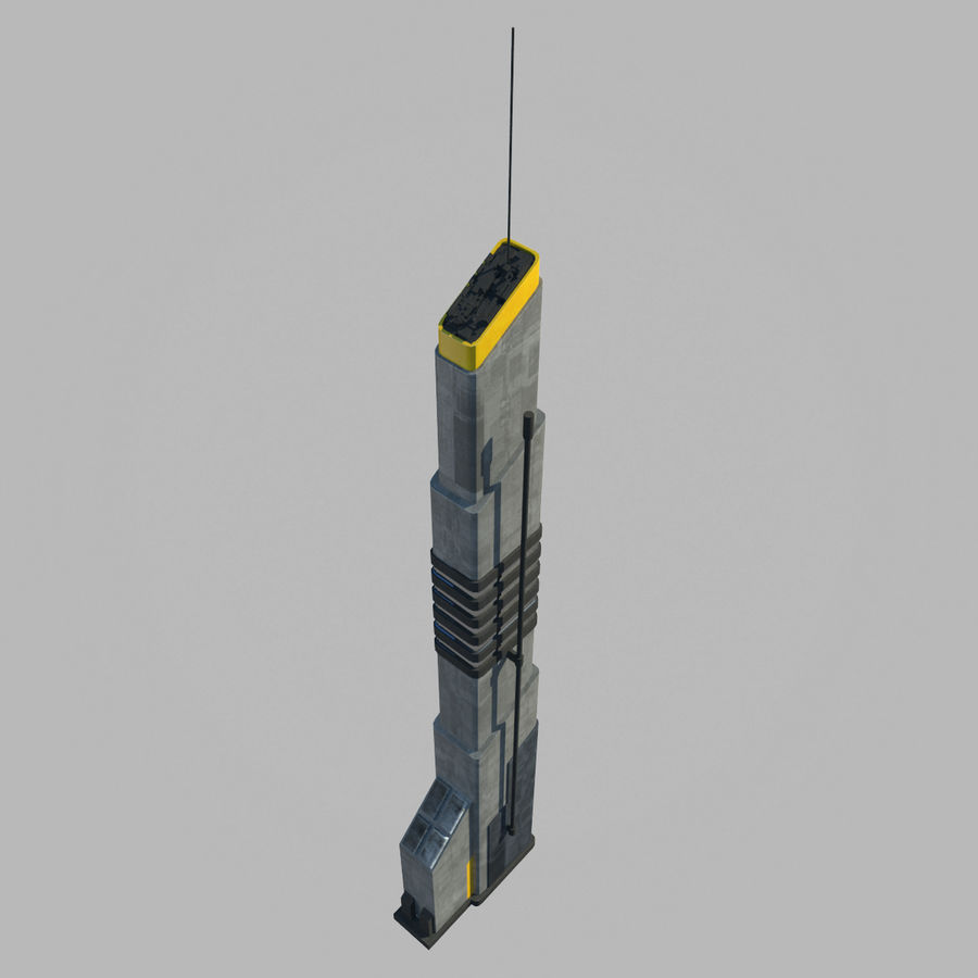 Sci fi Building royalty-free 3d model - Preview no. 5
