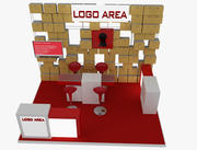 Booth Exhibition 3d model