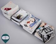 stapla tidskrifter 3d model