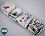 stack magazines 3d model