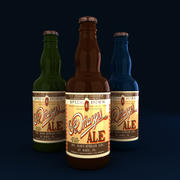 3D Beer Bottles 3d model