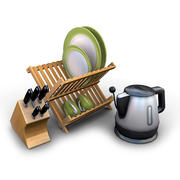 Kitchen Items 1 3d model