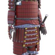 武士盔甲 3d model