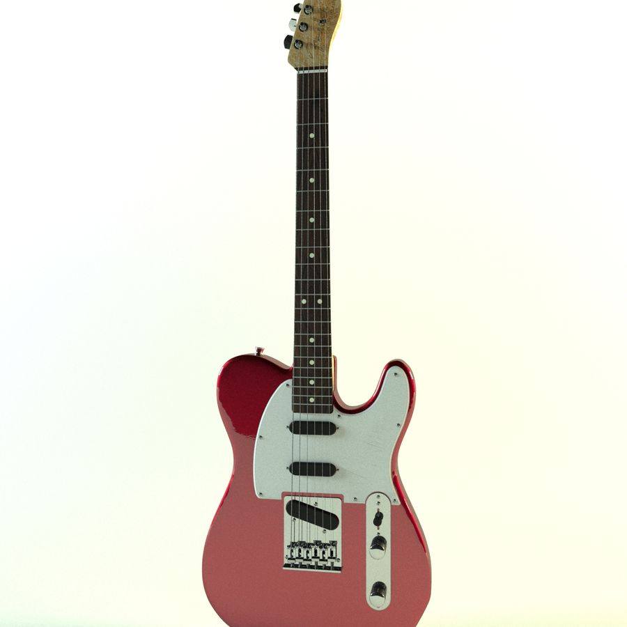 Fender Telecaster röd metallic royalty-free 3d model - Preview no. 3