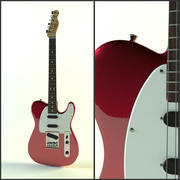 Fender Telecaster красный металлик 3d model