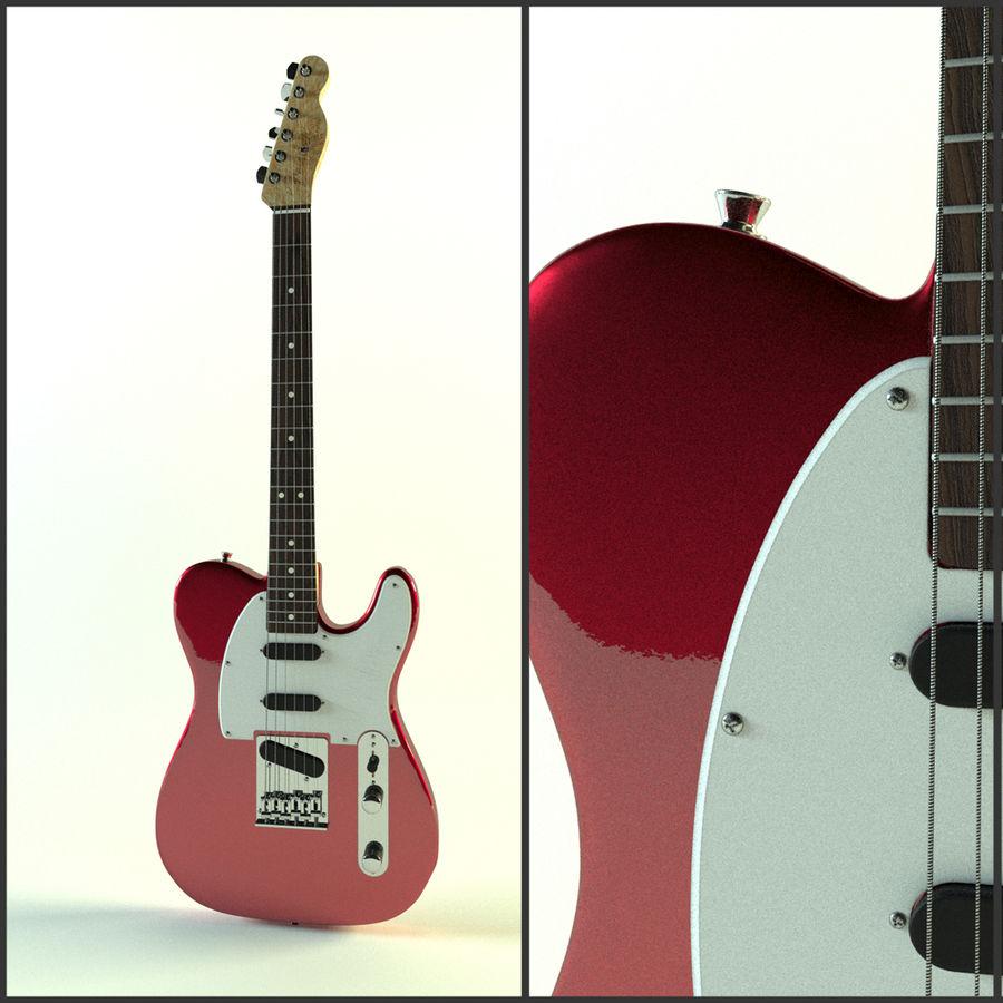 Fender Telecaster röd metallic royalty-free 3d model - Preview no. 1