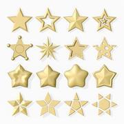 16颗星的集合 3d model