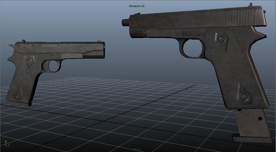 Colt 1911 royalty-free 3d model - Preview no. 4