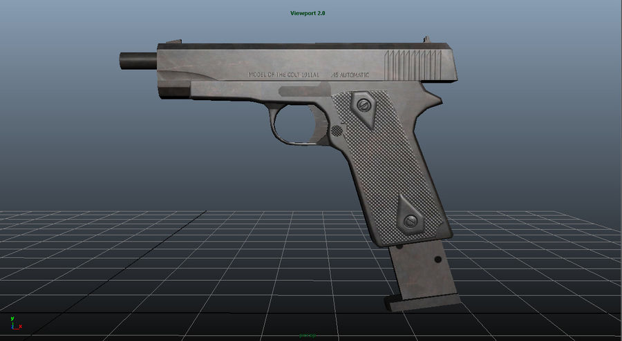 Colt 1911 royalty-free 3d model - Preview no. 5