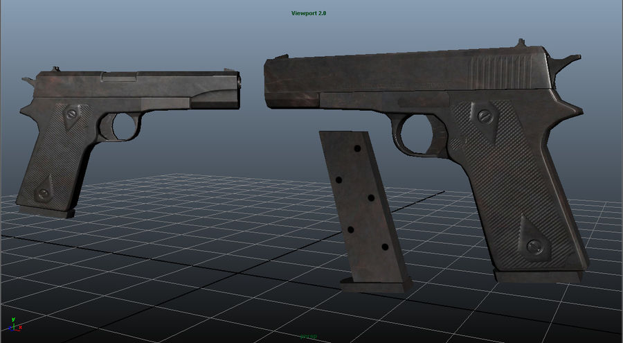 Colt 1911 royalty-free 3d model - Preview no. 2