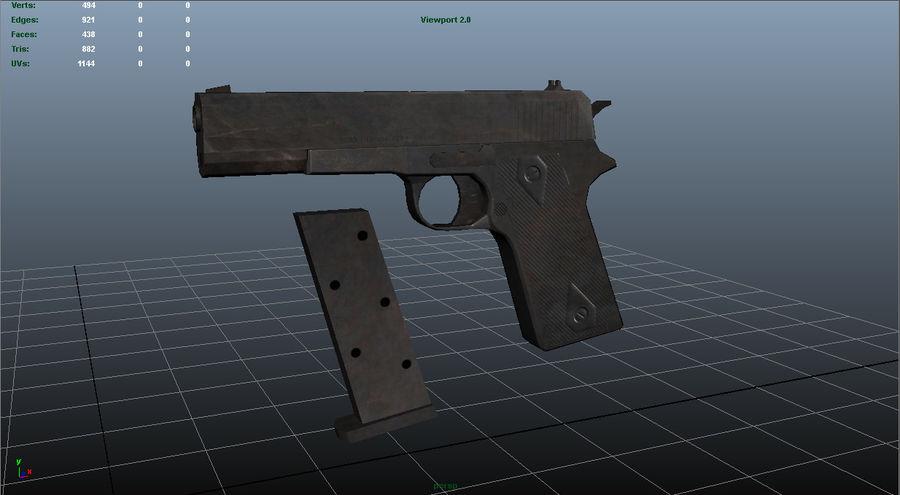 Colt 1911 royalty-free 3d model - Preview no. 1