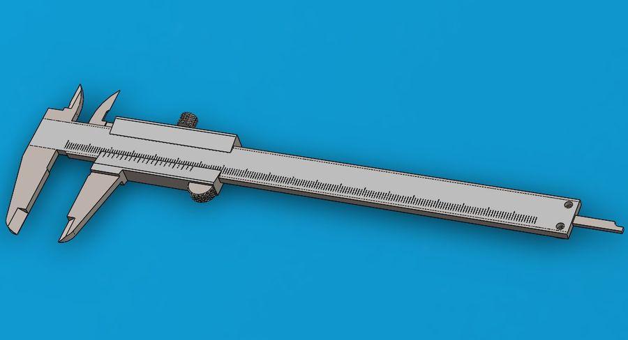 Compasso de calibre de Mitutoya royalty-free 3d model - Preview no. 2