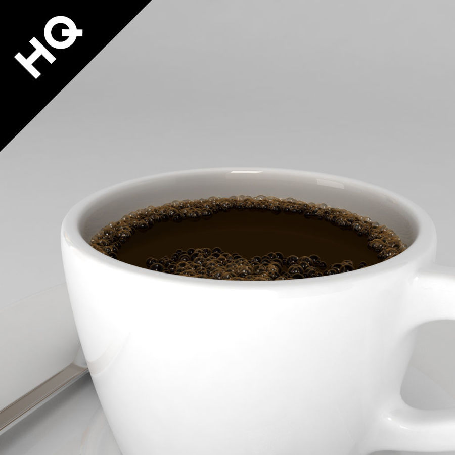 coffee cup royalty-free 3d model - Preview no. 4