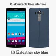 LG G4 Cuero azul cielo modelo 3d