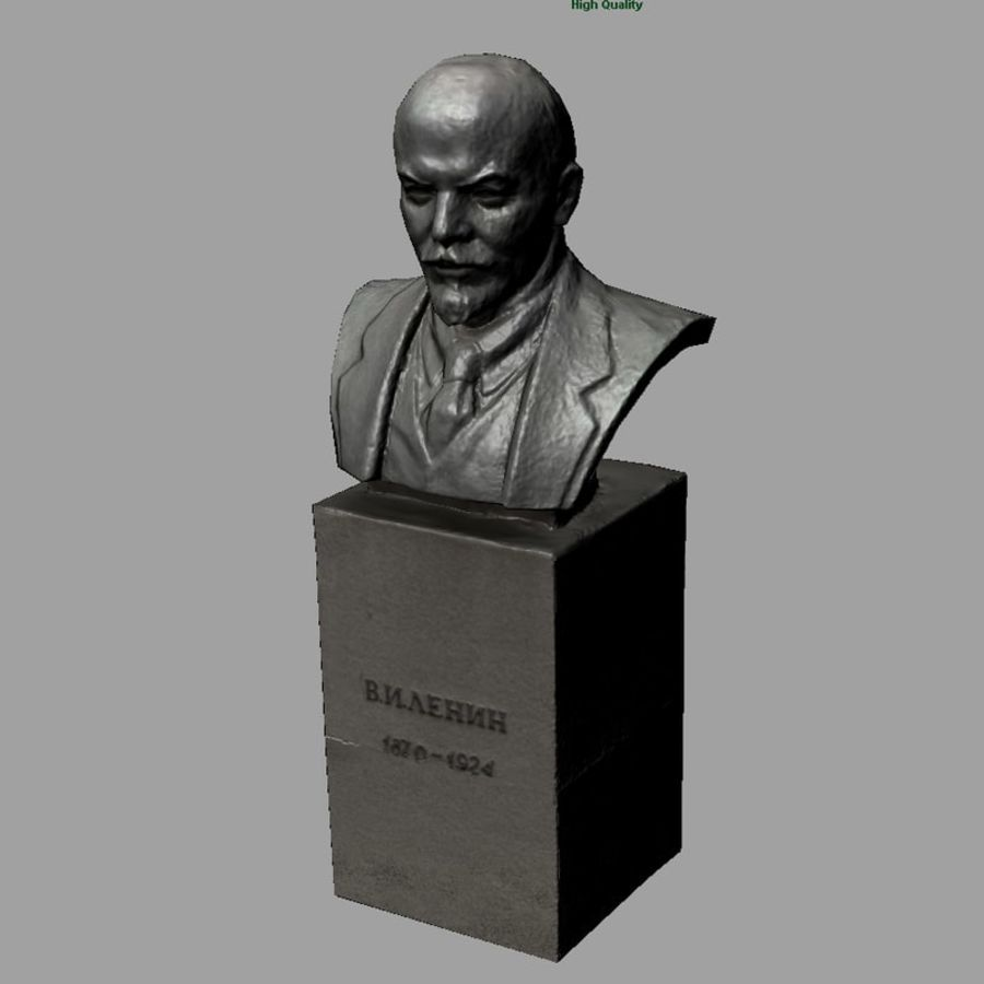 Vladimir Lenin royalty-free 3d model - Preview no. 7