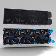 散热器 3d model