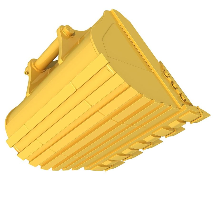 Excavator Bucket royalty-free 3d model - Preview no. 8