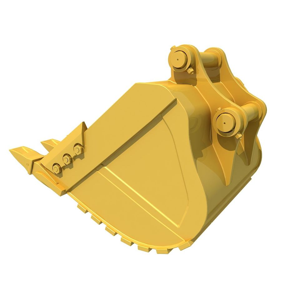 Excavator Bucket royalty-free 3d model - Preview no. 2