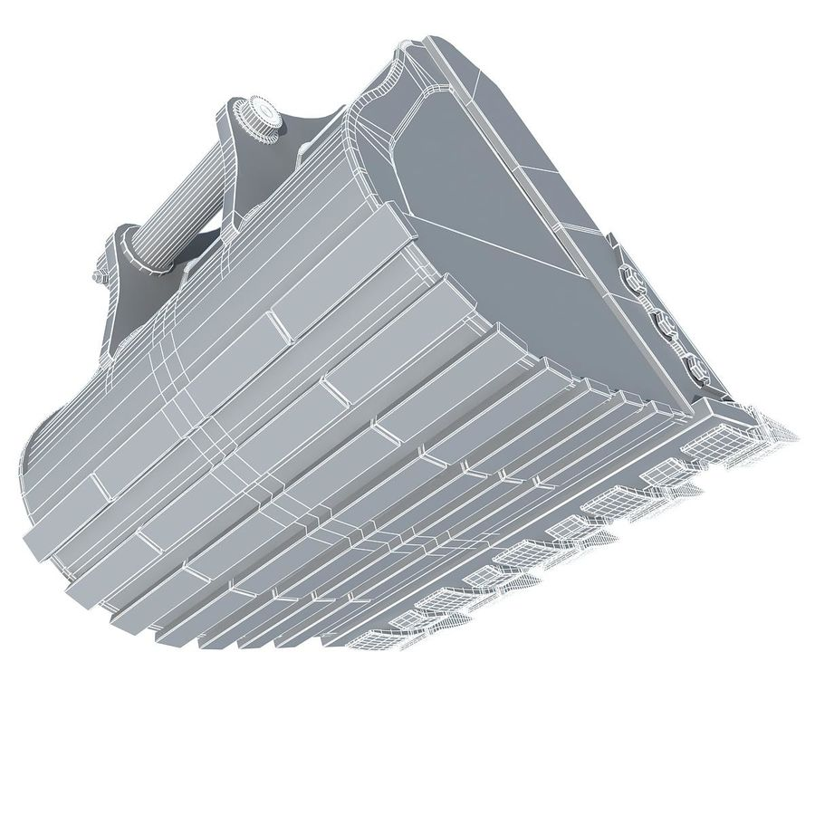 Excavator Bucket royalty-free 3d model - Preview no. 9