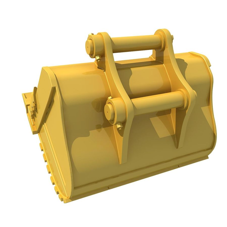 Excavator Bucket royalty-free 3d model - Preview no. 3
