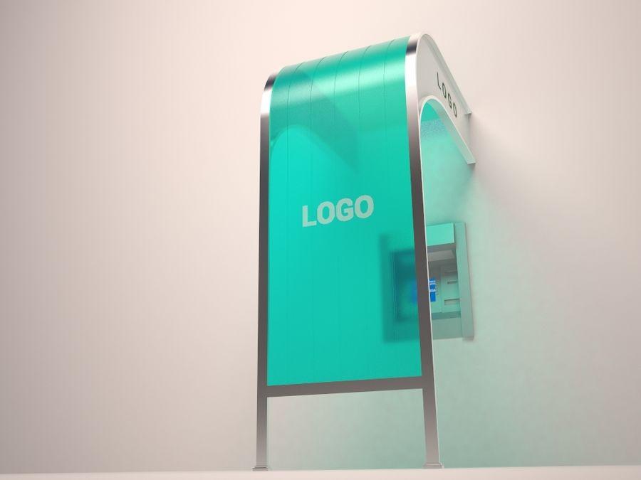 ATM Zonnescherm royalty-free 3d model - Preview no. 4