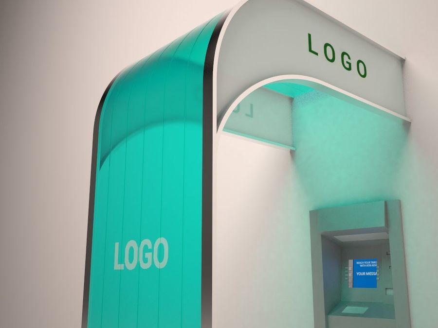 ATM Zonnescherm royalty-free 3d model - Preview no. 1