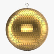Disco Ball Gold 3d model