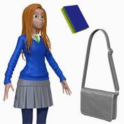 Cartoon Teenage Student H1O2 Sculpt 3d model
