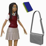 Dibujos animados estudiante adolescente H1O3 esculpir modelo 3d