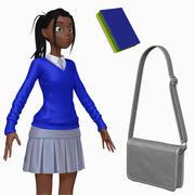 Cartoon Teenage Student H2O2 Sculpt 3d model
